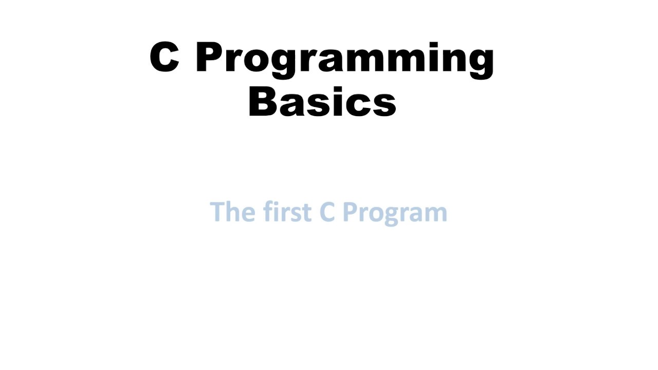 C programming basics coderforevers learn c programming Compiler for c language